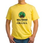 HOLLYWOOD FOR OBAMA Yellow T-Shirt