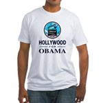 HOLLYWOOD FOR OBAMA Fitted T-Shirt