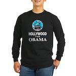 HOLLYWOOD FOR OBAMA Long Sleeve Dark T-Shirt