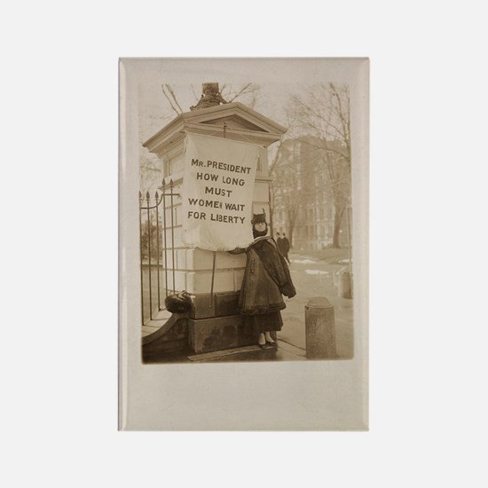 Suffragist Pickets White House Rectangle Magnet