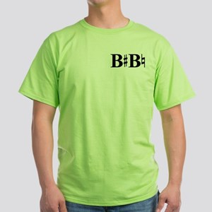 B Sharp B Natural Green T-Shirt