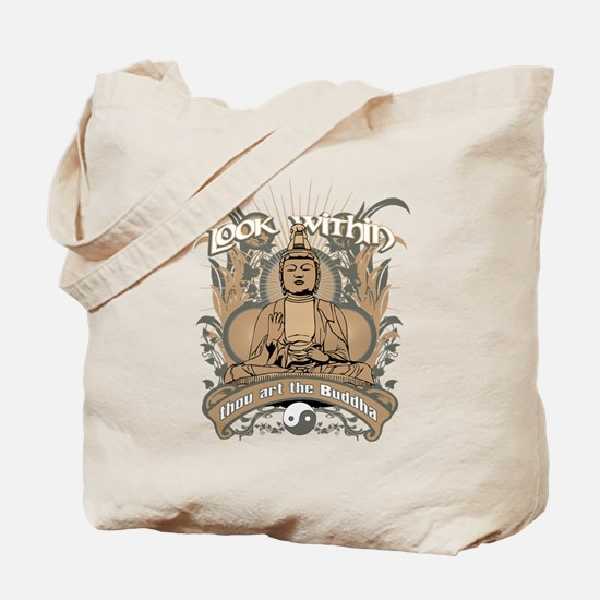 Look Within Buddha Tote Bag
