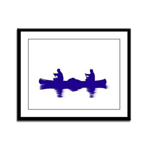 BLUE CANOE Framed Panel Print