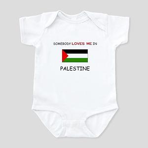 Somebody Loves Me In PALESTINE Infant Bodysuit