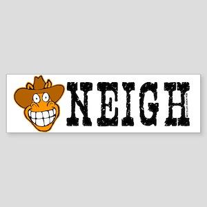 Neigh, funny cowboy horse. Bumper Sticker