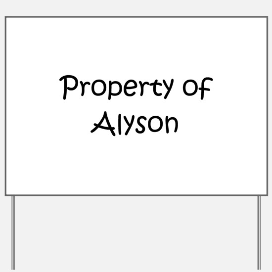 Cute Alyson Yard Sign