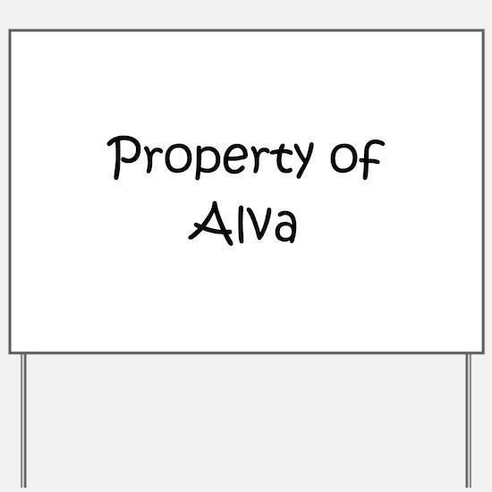 Unique Alva Yard Sign