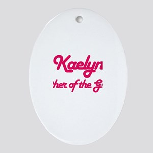 Kaelyn - Mother of Groom Oval Ornament