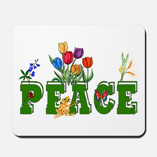 Peace Garden Mousepad