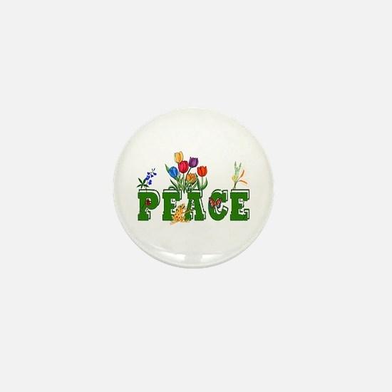 Peace Garden Mini Button