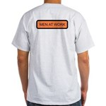 Men at Work (Back) Ash Grey T-Shirt