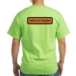 Men at Work (Back) Green T-Shirt