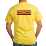 Men at Work (Back) Yellow T-Shirt