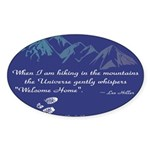 Hiking Mountains Universe Sticker