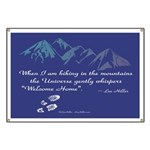 Hiking Mountains Universe Banner