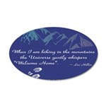 Hiking Mountains Universe Wall Decal