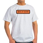 Men At Work Sign 1 Ash Grey T-Shirt