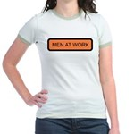 Men At Work Sign 1 Jr. Ringer T-Shirt
