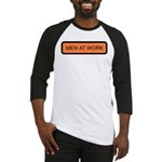 Men At Work Sign 1 Baseball Jersey