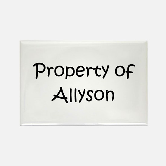 Cute Allyson Rectangle Magnet