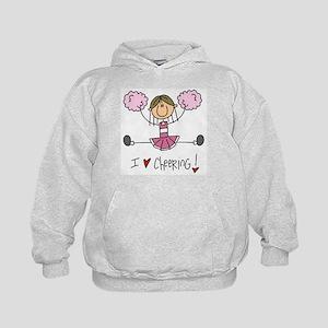 Pink Love Cheering Kids Hoodie