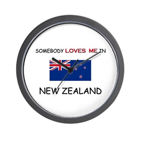 Somebody Loves Me In NEW ZEALAND Wall Clock