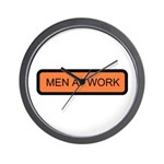 Men at Work Sign 1 - Wall Clock