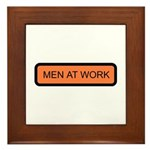 Men at Work Sign 1 - Framed Tile
