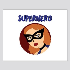 Retro Superhero Betty Small Poster
