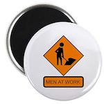 """Men at Work Sign 2 - 2.25"""" Magnet (10 pack)"""