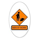 Men at Work Sign 2 - Oval Sticker