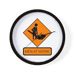 Men at Work Sign 2 - Wall Clock