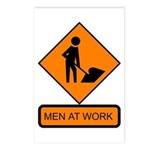 Men at Work Sign 2 - Postcards (Package of 8)