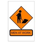 Men at Work Sign 2 - Large Poster