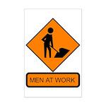 Men at Work Sign 2 - Mini Poster Print