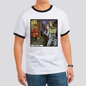'Bus Stop' Ringer T-Shirt With Backprint