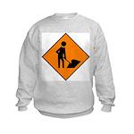 Men at Work 3 Kids Sweatshirt
