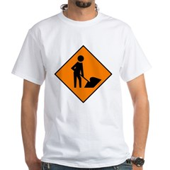 Men at Work 3 White T-Shirt