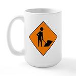 Men at Work Sign 3 - Large Mug