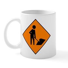 Men at Work Sign 3 - Mug