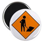 Men at Work Sign 3 - Magnet