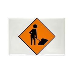 Men at Work Sign 3 - Rectangle Magnet (10 pack)
