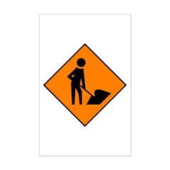 Men at Work Sign 3 - Posters