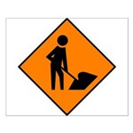 Men at Work Sign 3 - Small Poster