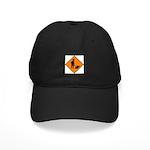 Men at Work Sign 3 - Black Cap