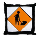 Men at Work Sign 3 - Throw Pillow