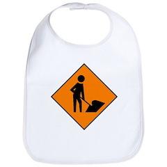 Men at Work Sign 3 - Bib