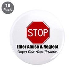 """Elder Abuse is Wrong 3.5"""" Button (10 pack)"""