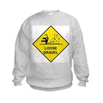 Yellow Loose Gravel Sign - Kids Sweatshirt