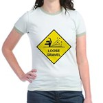 Yellow Loose Gravel Sign - Jr. Ringer T-Shirt